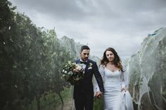Simone & Mike, Yarra Valley, VIC - brown paper parcel photography