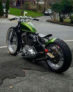 Custom Harley Davidson Bobber. #harleydavidsonsportsternightster