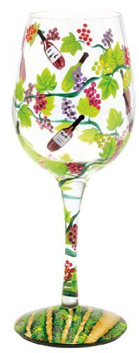 $25.83-$25.99 The Wine Tasting wine glass from the Lolita's Love My Wine Collection from Santa Barbara Design has a unique recipe hand painted on the bottom of each glass. Original Lolita Yancey design on a 15-ounce wine glass. A great gift for the wine lover, this popular new shape for wine glasses is appropriate for either red or white wine and is the one widely used in California winery tasti ...