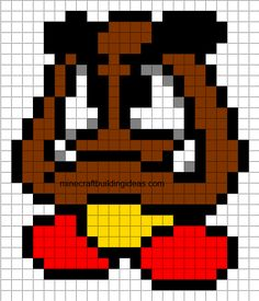 Minecraft Pixel Art Templates: Goomba