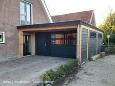 Garage Extension, Enclosed Carport, Carport Designs, Little Cottages, Granny Flat, Container House Design, Garden Inspiration, Home Improvement, Garage Doors
