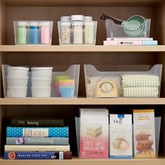 Organize your pantry with pantry organizers from The Container Store! Our pantry organizers come in many designs and sizes to fit any kitchen pantry space. Stackable Plastic Storage Bins, Rolling Storage Bins, Fabric Storage Bins, Plastic Bins, Kitchen Cupboards, Kitchen Pantry, Diy Kitchen, Kitchen Storage, Food Storage