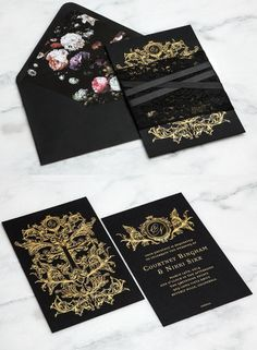 Striking Wedding Invitations - MODwedding