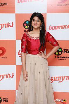 Megha Akash at Boomerang Audio Launch Megha Akash, Girls Dresses, Dresses For Work, Dress Work, Indian Bridal Sarees, Bollywood Photos, Tamil Actress Photos, Girl Photo Poses, Beautiful Indian Actress