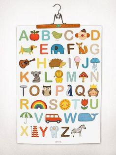 как повесить алфавит на стену