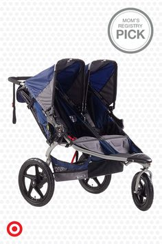 Twins in your future? Well, the BOB Revolution SE Duallie stroller may be just the thing for your active family. The stroller's reclining seats can be independently adjusted to suit each of your baby's needs. And, the ample onboard storage is perfect for snack, diapers and other baby essentials. Stroll on.