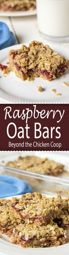 Quick and easy dessert made with oatmeal and raspberry jam!