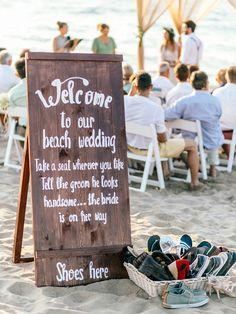 beach wedding DIY beach-themed decorations for wedding ceremony and rception Beach Wedding Reception, Beach Ceremony, Beach Wedding Decorations, Seaside Wedding, Beach Wedding Favors, Wedding Themes, Wedding Ceremony, Wedding Ideas, Wedding On The Beach