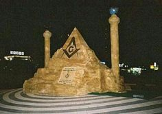 An illuminati symbol in israel