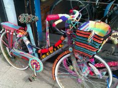 A bike cozy-- I'm going to make one! Someday