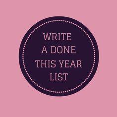 Write A Year Done List