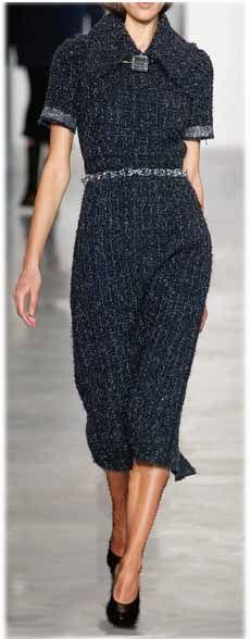 Calvin Klein - FALL 2014 READY-TO-WEAR, Linton Tweed effect in Mohair knit dress