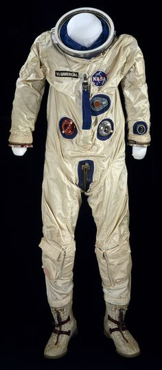 """G3-C spacesuit worn by Virgil """"Gus"""" Grissom on Gemini 3 launched March 23, 1965. final frontier"""