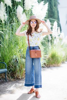 Stylewich by Elizabeth Lee, Fashion Blogger, Outfit Ideas, Style Inspiration, Summer Fashion, Janessa Leone Hat, Saint Laurent Universite Bag, ATP Atelier Cyla Sandals