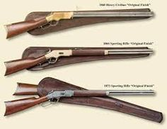 lever action rifles & leather scabbards