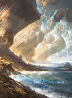 Island - Battle for Zendikar MtG Art