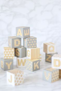Baby Blocks DIY - Fun craft game for baby shower // Pure Sweet Joy