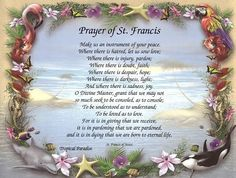 Prayer of St. Francis Inspirational Print