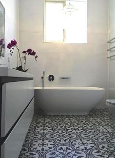 Spanish porcelain floor tiles replicas of traditional cement encaustic pattern tiles. Kalafrana Ceramics Sydney.
