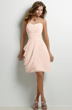 Sweetheart Short Side Ruched Bridesmaid Dress i like these in the color cherry it looks like coral
