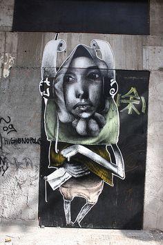 Street art | Mural (Consolação, São Paulo, Brazil, 2010) by Claudio Ethos