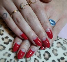 Vintage Dita Von Teese Half Moons Shellac Gel Nails Angel Islington London