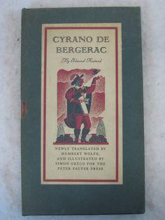 Edmond Rostand  CYRANO DE BERGERAC  IN SLIPCASE Peter Pauper Press c. 1941 25.00