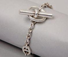 Hermès - chaîne d'ancre - argent, fermeture batonnet