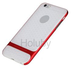 Transparent Rock Royce Series Hybrid PC + TPU Back Case for iPhone 6 Plus 6S Plus Red