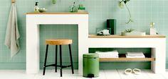 CLEAN & GREEN | já percebeu como o verde transmite sensações de limpeza? Por isso o 'greenery' pode ser a escolha perfeita para banheiros e lavabos. #TecnisaDecor #Banheiro #Greenery #Pantone #Inspire-se #Tecnisa Foto: Brabantia