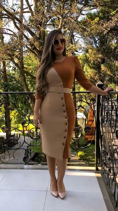Related posts:Acrylic nails are hereI like the red topOlive shirt and long black skirt Posh Dresses, Simple Dresses, Elegant Dresses, Casual Dresses, Classy Work Outfits, Classy Dress, Chic Outfits, Fashion Outfits, Vetement Fashion
