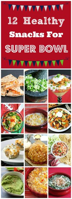 12 Healthy Snacks for Super Bowl - lightened up favorite Game Day snacks including nachos, Buffalo chicken dip, Blooming onion, Philly cheesesteak dip, 9 layer dip and more! Healthy Superbowl Snacks, Football Snacks, Game Day Snacks, Game Day Food, Party Snacks, Quick Snacks, Snacks Kids, Vegan Snacks, Party Dips