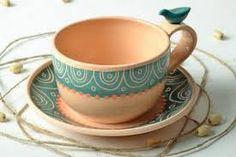 Resultado de imagen para tazas de ceramica de barro