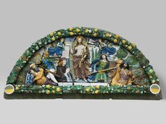 Giovanni della Robbia, Resurrection of Christ, about 1520–24. Glazed terracotta. Brooklyn Museum, Gift of A. Augustus Healy 99.5.