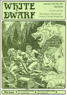The Other Side blog: White Dwarf Wednesday Issue 3 Dungeon Maps, Famous Monsters, School Games, Fantasy Rpg, Dwarf, Figure Painting, Dungeons And Dragons, Cover Art, Science Fiction