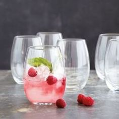 Stock up on Stemless Wine Glasses (stemmed = party fouls) so you can offer #wine, water, mixed drinks, or #margaritas! You can get this set of 6 at #SurLaTable for $19.98