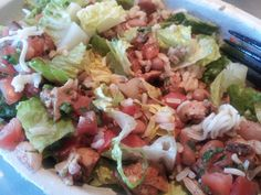 Chipotle Salad with Chicken, Beans, and Brown Rice » Live Well Furman