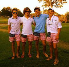stepupyourprep:  findmedownsouth:  stepupyourprep:  Golfing with my favorite boys!  Be careful, you may pop a blood vessel trying that hard....