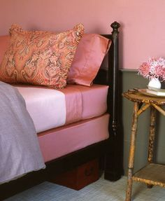 Cover boxspring with fitted sheet instead of bedskirt