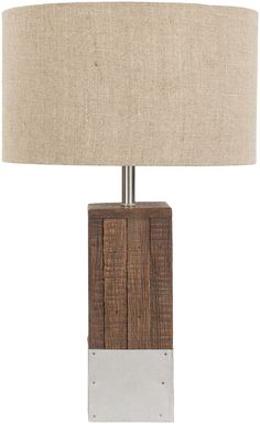Restoration Table Lamp w/ Tan Shade design by Surya