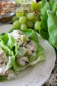 Cashew Chicken Salad Lettuce Wraps make for a quick, easy, and fresh meal for a last minute lunch date with friends.