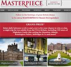 pbs/sweepstakes   PBS Masterpiece Classic Sweepstakes 2013 to win a trip to London