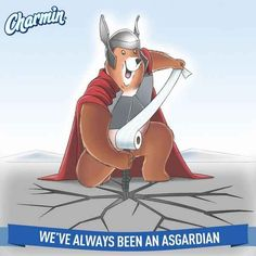 "Charmin Tweeted, Then Deleted, This Rather Spectacular ""Thor"" Pun"