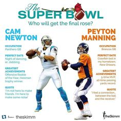 #superbowl50 #Repost @theskimm .  Who will get the final rose? We Skimm'd all you need to know link in bio #SkimmLife #superbowl50