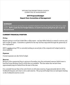Office Budget Increase Proposal Format  Office Budget Template