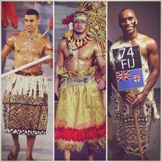 Polynesian Flag Bearers #RioOlympics16 #Tonga #Samoa #Fiji