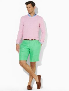 Polo. Love Pastels. Gotta be a man to wear them.