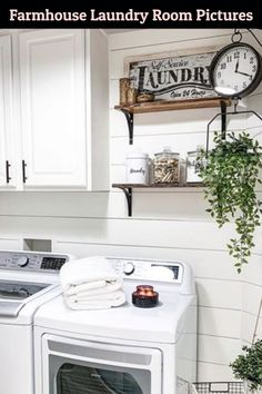 Farmhouse Laundry Room Pictures Laundry Room Rugs, Tiny Laundry Rooms, Laundry Room Remodel, Farmhouse Laundry Room, Country Farmhouse Decor, Farmhouse Style Decorating, Small Laundry Space, Laundry Room Pictures, Home Upgrades