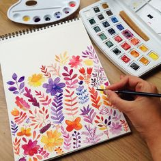 Watercolor love on Pantone Canvas Gallery