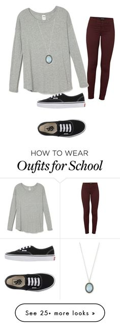 """""""School"""" by lindseycormier on Polyvore featuring J Brand, Vans, Armenta, women's clothing, women's fashion, women, female, woman, misses and juniors"""